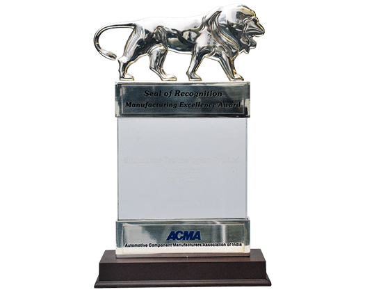ACMA manufacturing Excellence Silver Award Suspension