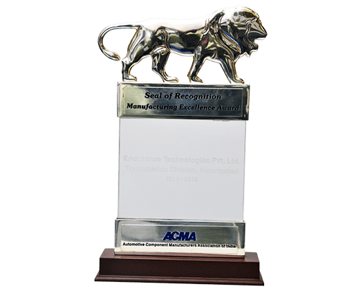 ACMA manufacturing Excellence Silver Award transmission